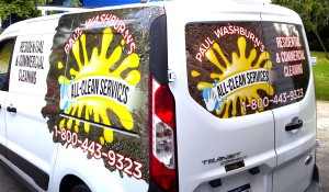 All Clean Services Van Wrap