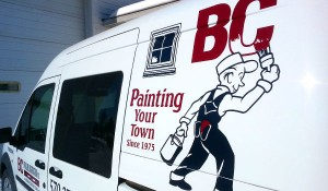 Broadline Construction Painting Van Graphics