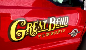 Great Bend Township Door Lettering