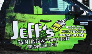 Jeff's Painting Vehicle Wrap