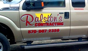 Ralston's Contracting Custom Graphics